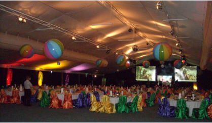 """Beach and Bling"" - EVA Conference Dinner theme - Novotel Twin Waters Qld."