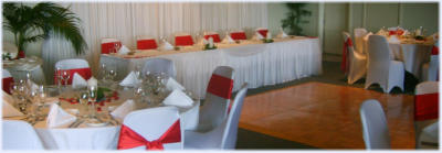 Flame Satin Wedding - styled by WOW Functions